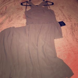 Taupe bridesmaid dress!